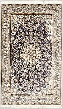 A oriental Nain carpet. Circa 175 x 293 cm.