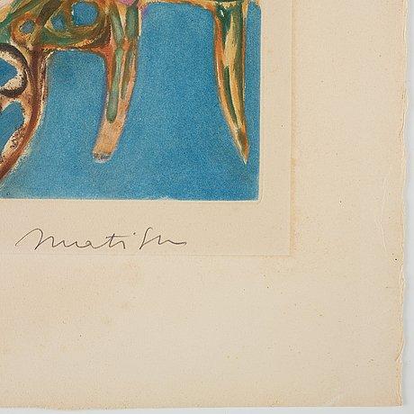 "Henri matisse after, ""petit intérieur bleu""."