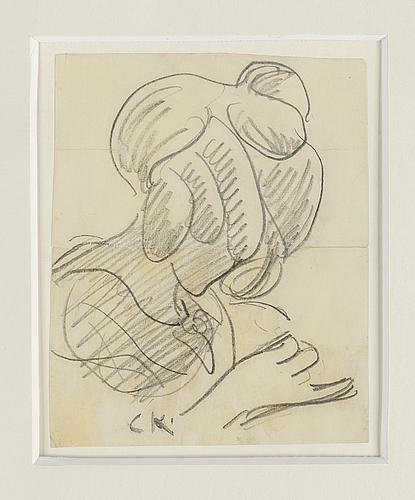 Carl kylberg, pencil drawings, 4, 3 signed.