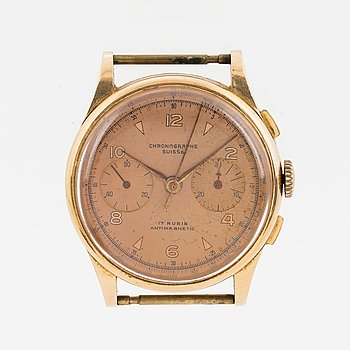 CHRONOGRAPH SUISSE, wristwatch, 37 mm.