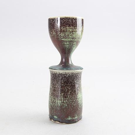 Stig lindberg, a signed glazed stoneware vase.