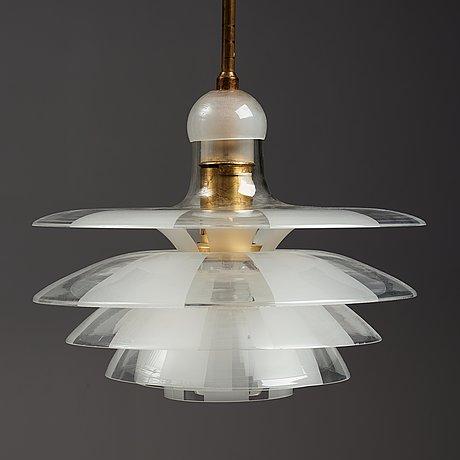 "Poul henningsen, a ""septima 4"" ceiling light, louis poulsen, denmark ca 1931."