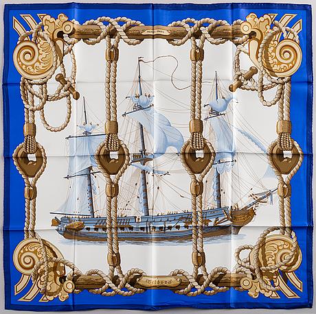 "HermÈs, scarf, ""tribord"""