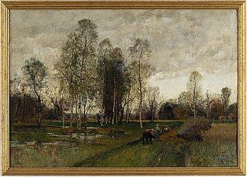 OSCAR TÖRNÅ, olja på duk, signerad Oscar Törnå och daterad 1881.