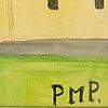 Primus mortimer pettersson, watercolour, signed pmp