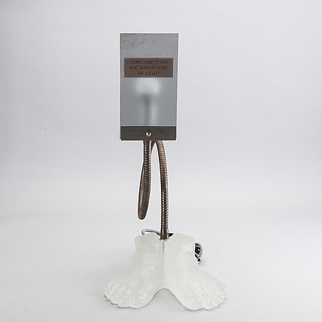 Hans frode,a table lamp