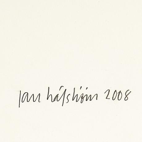 Jan hÅfstrÖm, handkolorerad litografi signerad och daterad 2008. numrerad a.p ii/x.