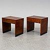 SÄngbord, ett par, art déco, 1930 tal