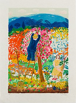 LENNART JIRLOW, lithograph in colours, signed V/L.