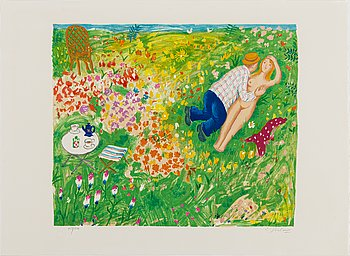LENNART JIRLOW, lithograph in colours, signed 153/310.