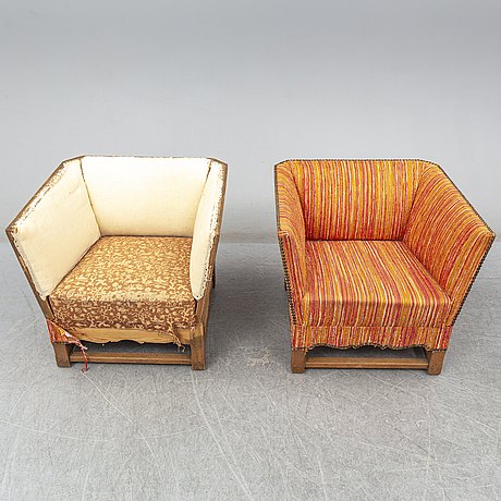 Two elias barup armchairs
