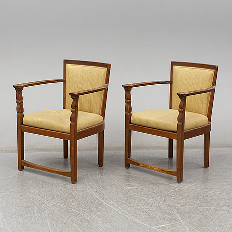 A pair of armchairs from the early 20th century