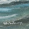 Gustaf fredriksson, watercolours, 4, signed