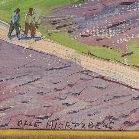 Olle hjortzberg, olja på duk, signerad.