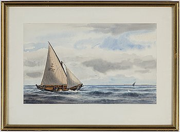 UNKNOWN ARTIST, 20th Century, watercolours, 5, signed M Hägg.