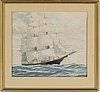 Carl hendel friberg, watercolour, signed and dated  54