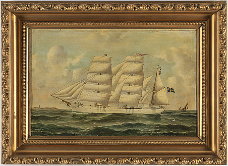 Unknown artist, oil on canvas, signed a cappell coole