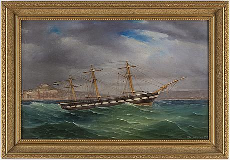 OkÄnd konstnÄr, olja på duk, signerad och daterad 1869