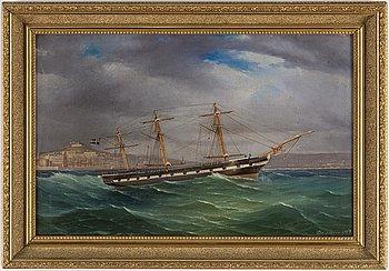 OKÄND KONSTNÄR, olja på duk, signerad och daterad 1869.