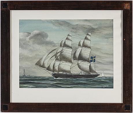 Gustaf fredriksson, watercolour, signed