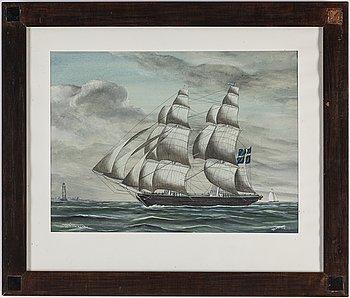 GUSTAF FREDRIKSSON, watercolour, signed.