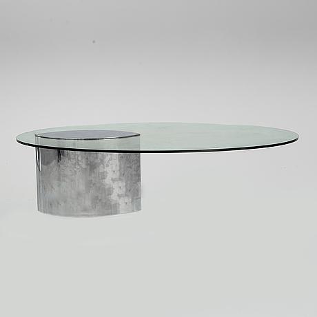 "A glass top coffee table ""lunario"" cini boeri."