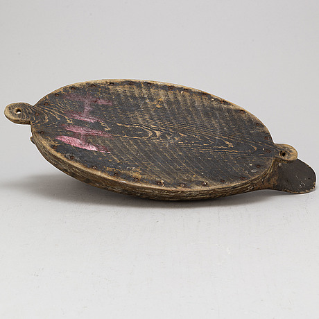 A painted wood imitation duck, first half of the 20th century