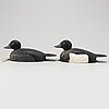 Two painted wood imitation ducks, first half of the 20th century