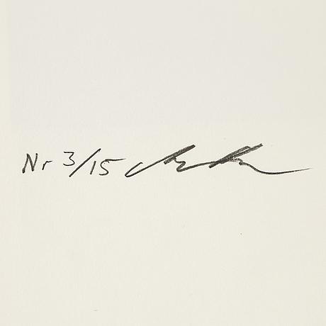 Martin bogren, fotografi signerad och numrerad 3/15 a tergo.