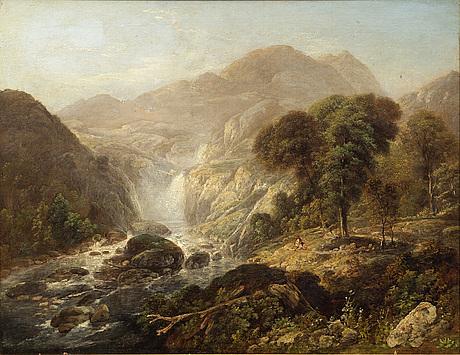 John william north, oil on canvas signed