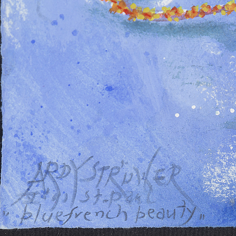 Ardy strÜwer, watercolour/gouache, signed, st paul.