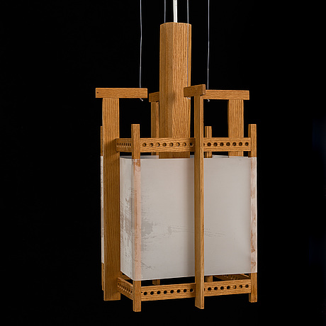 Johan kandell, a cieling lamp by cabinetmaker david sjölinder, 1950-60's.