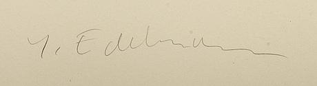 YrjÖ edelmann, färglitografi signerad och numrerad 79/150.