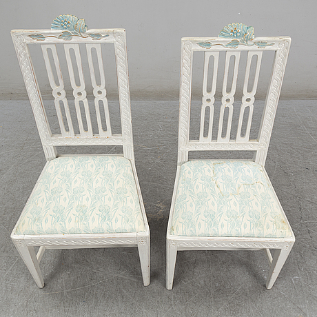 Six gustavian chairs, early 19th century