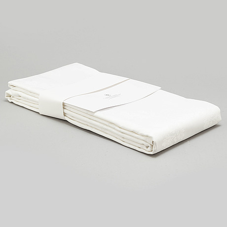 Three damasque table cloths from georg jensen damask. 'the royal anniversary and world scout centennial present'