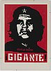 "Shepard ""obey"" fairey, silkscreen, signed and dated -97, numbered 52/100 with pencil."