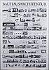 A poster 'bauhausarchitektur das bauhaus und weimar, dessau und berlin 1919 1933'
