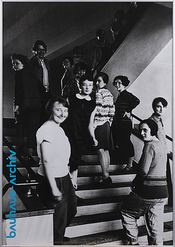 A 21th century poster by 'bauhausmädels  bauhaus girls', bauhaus archiv