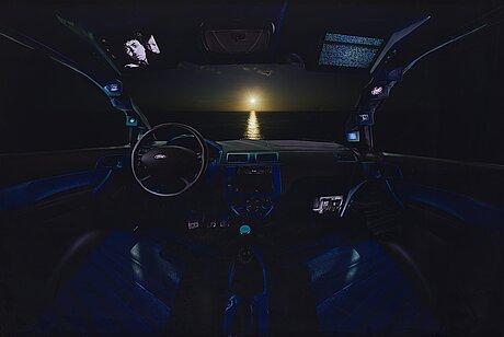 """Luis gispert, """"blue car"""", 2010."""
