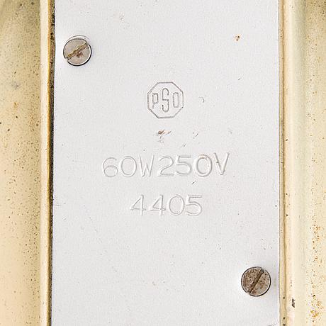 A mid 20th century desk lamp  by pso, pohjoismainen sähkö oy, finland.