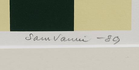 Sam vanni, serigrafi, signerad och daterad -89, numrerad 65/75.