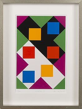 PAUL OSIPOW, serigraph, signed and dated -91, numbered 77/100.