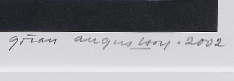 GÖran augustson, serigrafi, signerad och daterad 2002, numrerad 143/150.