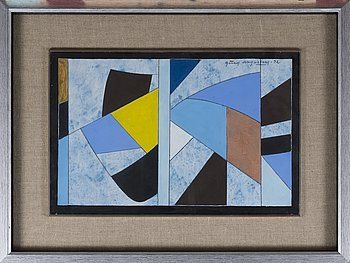 GÖRAN AUGUSTSON, gouache, signed and dated -92.