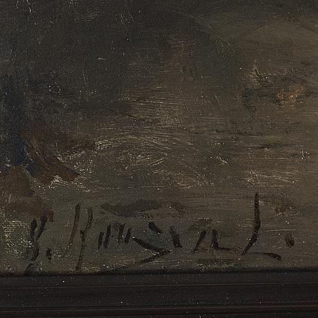 Gerda roosval-kallstenius, oil on canvas/panel, signed g. roosval.