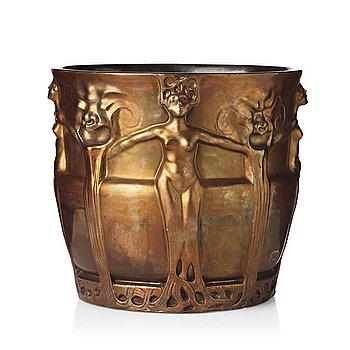 32. Alf Wallander, an Art Nouveau creamware urn, Röstrand, Sweden circa 1900.
