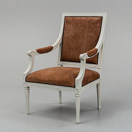 A swedish gustavian armchair, late 18th century.