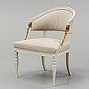 A swedish late gustavian armchair by ephraim ståhl.