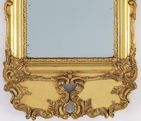 Spegel, rokokostil, sent 1800-tal.