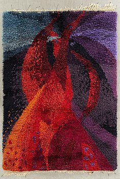 A CARPET, knotted pile, ca 197 x 147 cm, hand knotted at Borgs fabriker, Lund. Around 1960.